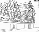 Buildings Coloring Pages Alpine Building Constructions Oncoloring sketch template
