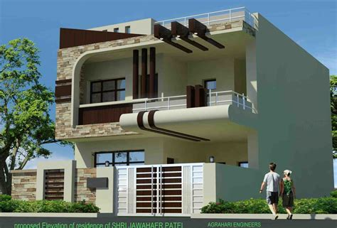 Modern Single Floor House Front Elevation Designs Bedroom