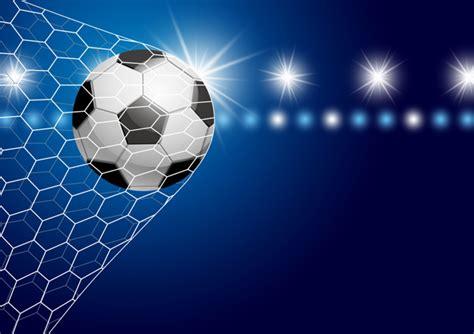 foto de Pallone da calcio in porta con riflettori illustrazione