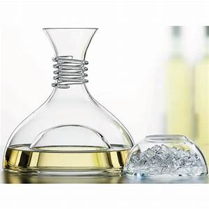 Frio, White, Wine, Decanter, With, Ice, Bowl