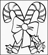 Candy Cane Coloring Pages Sheet sketch template