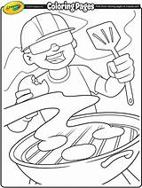 Coloring Pages Labor Crayola Bbq Summer Crafts Burgers Grill Printable Grillin Printables Colouring Adult Ready Activities Getcoloringpages American Happy sketch template