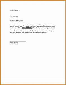 BASIC RESIGNATION LETTER SAMPLES letter format mail