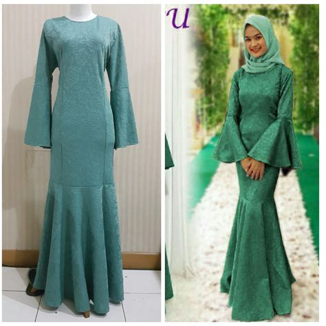 jual baju muslim murah gamis duyung terbaru gamis modern