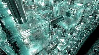 System Wallpapers Glass Device Ice Cube Systems