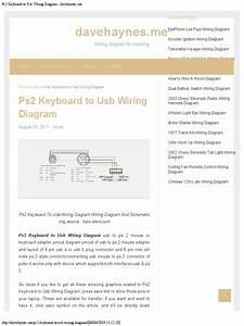 Computer Keyboard Wiring Diagram