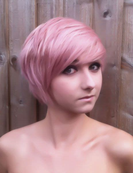 Short Pink Hair Love The Whole Thing Color And Cut Me