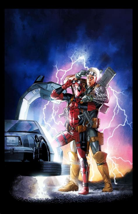 Deadpool/Cable: Back to the Future homage by Mike S ...