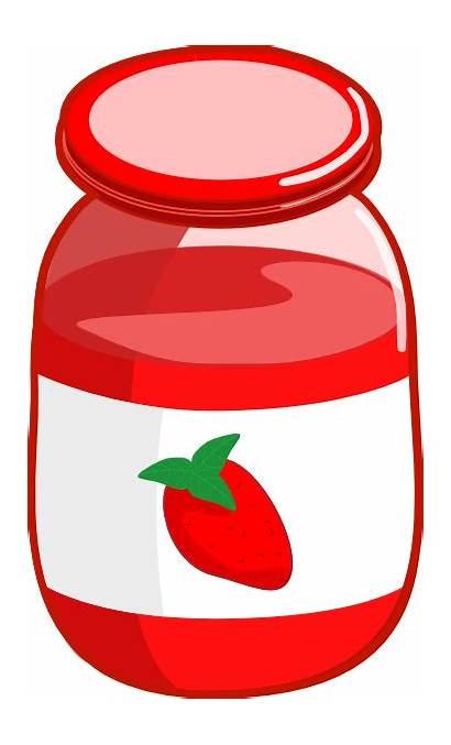 Jam Clip Clipart Jar Strawberry Jelly Butter