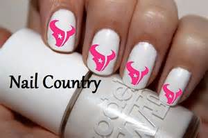 Pink houston texans football bull nail decals art