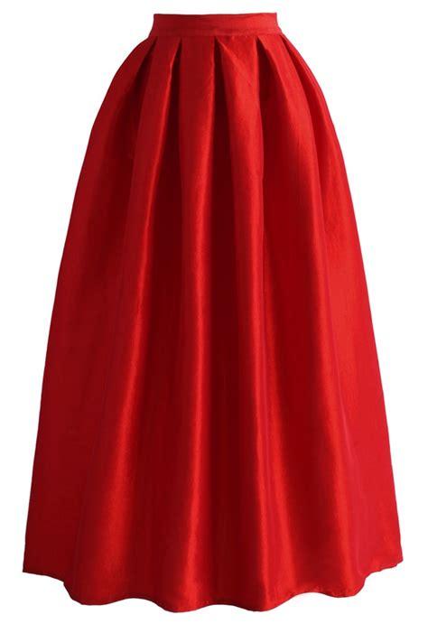 maxi rossa la pleated skirt in retro and