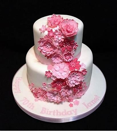 Flowers Flower Cake Cakes Birthday Pink Decoration