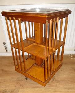 Desk chair plan: Revolving wood bookcase