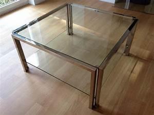 Couchtisch Modern Glas : edler designer couchtisch glas chrom messing 80x80cm modern in baden baden couchtische ~ Watch28wear.com Haus und Dekorationen