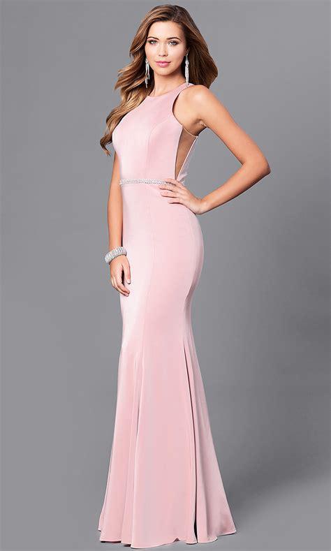 Racerback Jersey Mermaid Prom Dress - PromGirl
