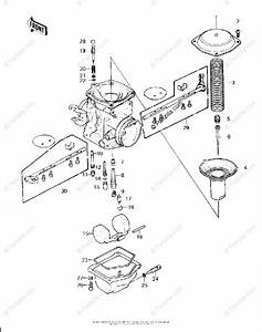 Kawasaki Motorcycle 1983 Oem Parts Diagram For Carburetor