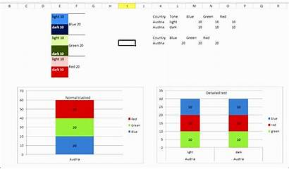 Stacked Chart Excel Column Bar Possible Templates