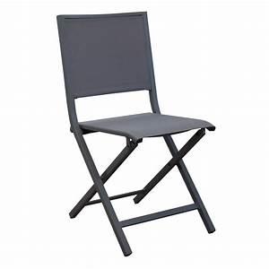 Chaise Pliante De Jardin : chaise pliante florence aluminium textil ne gris gamm vert ~ Teatrodelosmanantiales.com Idées de Décoration