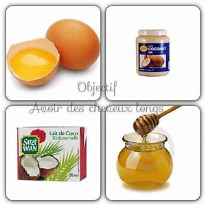Recette Soin Cheveux : recette de masque pour les cheveux oeufs huile de coco lait de coc miel ~ Dallasstarsshop.com Idées de Décoration