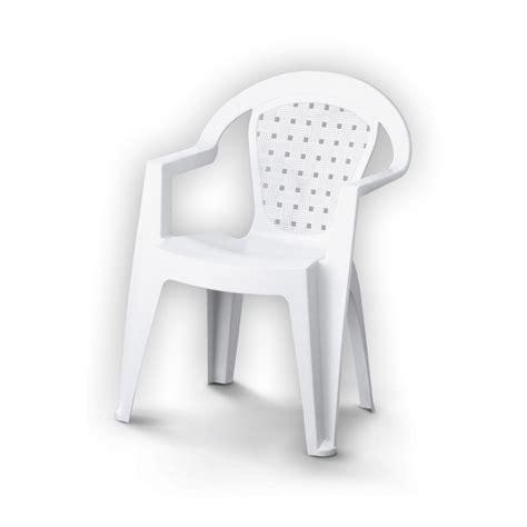 fauteuil de jardin en r 233 sine plastique norma blanc