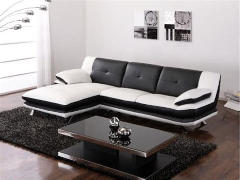 nicoletti canapé photos canapé noir et blanc conforama