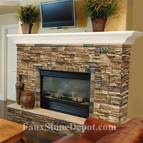 stack fireplace fireplace the on cheap faux panels