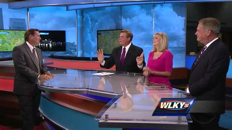 Anchors Sing Happy Birthday To Wlky's Vicki Dortch