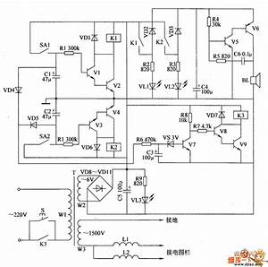 The Control Circuit Of Electric Fence Part 5 - Automotive Circuit - Circuit Diagram