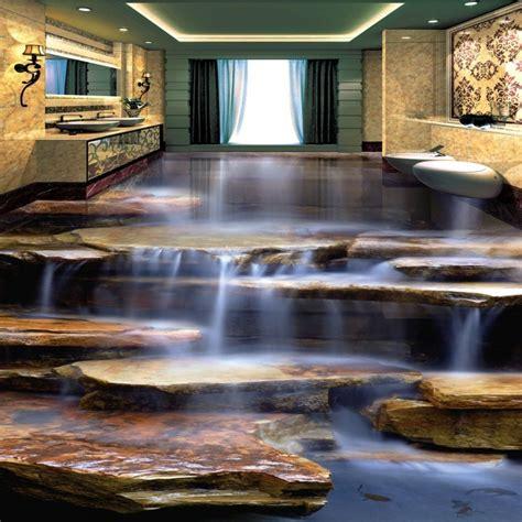shipping  slip floor mural flowing water healthy