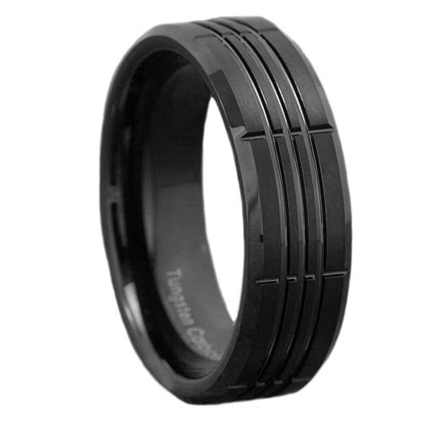 comfort fit ring tungsten carbide ring comfort fit wedding band silver