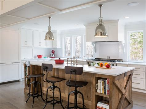 white kitchen wood island photos hgtv 1425