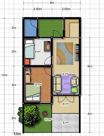 desain  denah rumah ukuran     gambar rumah idaman