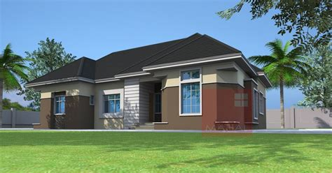 contemporary nigerian residential architecture bedroom bungalow ub type