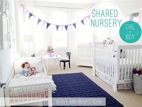 Boy And Girl Shared Nursery Blue + Pink = Happy Splash