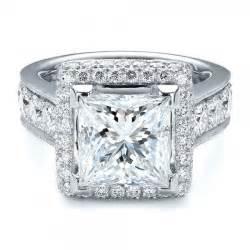 princess cut halo engagement rings halo ring princess cut halo ring