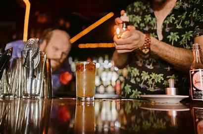 Tiki Bar Eat Street Social Torpedo Table