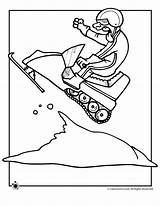 Snowmobile Coloring Pages Winter Print Birthday Snowmobiles Drawing Cat Arctic Classroom Jr Printable Snow Sheets Window Snowman Riding Activities Bike sketch template