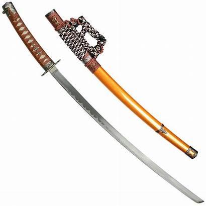Sword Samurai Japanese Gold Katana Swords Blade