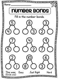 number bonds mat search year one mathematics