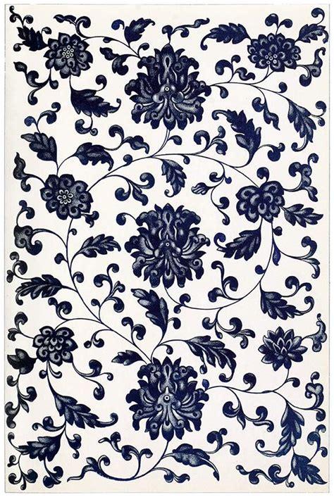 blue symmetrical floral pattern  book illustrations