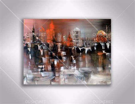 bureau dhl peint à la abstraite moderne peinture à l 39 huile sur