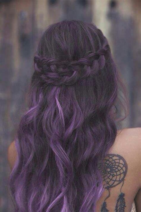Bold And Trendy Dark Purple Hair Color Ideas Stayglam