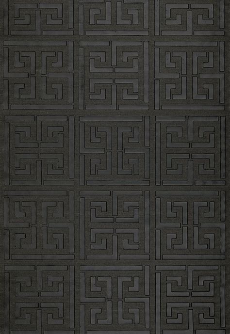 wallcovering wallpaper greek key sisal  jet