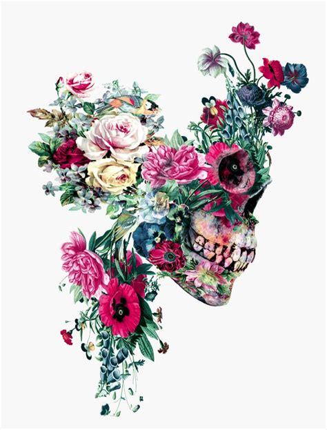 Colorful Floral Skull Illustrations Riza Peker Designwrld