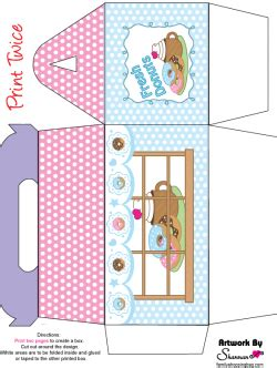 box  donut favor box  printable ideas  family