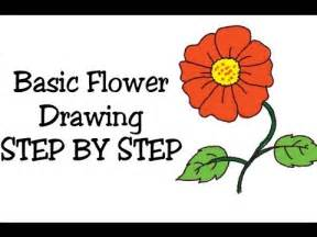 how to draw basic flower and coloring for and