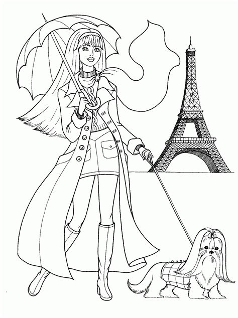 stylish page fashion coloring pages for girls printable coloring home