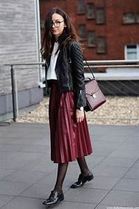 How To Style Up Pleated Skirt With Winter Jacket Fashion
