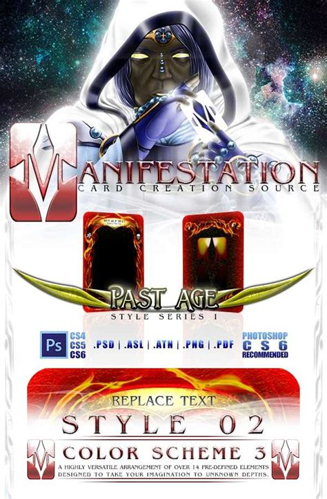 Agot Lcg 2 0 Photoshop Template by Manifestation Ccs Past Age Series I Style 02 Color