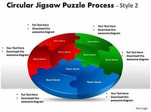 Circular Jigsaw Diagram Puzzle Process Style Flow 10